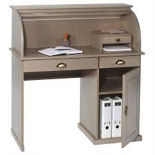 secretaire bureau bureau secrétaire dallas avec volet roulant rangement 3 tiroirs et