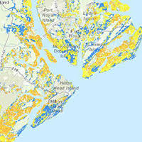 map of beaufort county sc low lying land guarantees flooding island packet
