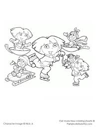 dora christmas coloring pages printable kids dora123