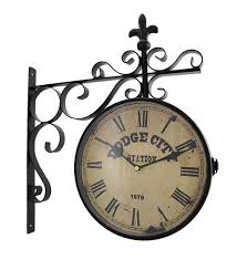 amazon com double sided dodge city station hanging wall clock