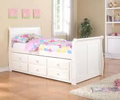Modern White Bed Frames Bed Frames Modern Sleigh Captains Trundle Bed White Bedroom