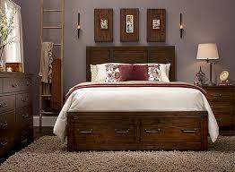 Storage Bed Sets King Shelton 4 Pc King Bedroom Set W Storage Rustic Pine Raymour