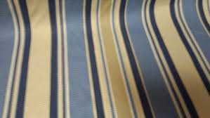 Blue And White Striped Upholstery Fabric Woven Cotton Stripe Shades Of Blue Tan And White Upholstery Fabric