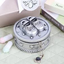 baptism jewelry box buy baby shoes trinket box pewter color polyresin shower