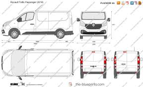 renault trafic 2017 the blueprints com vector drawing renault trafic passenger