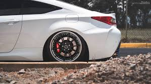 lexus rcf white lexus rc f brixton forged wheels