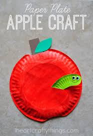Paper Craft Designs For Kids - paper plate apple craft i heart crafty things