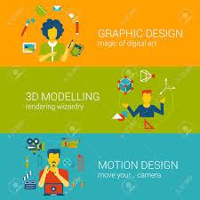 berufe mit design design prozess berufe fachkonzept flach web banner vorlage