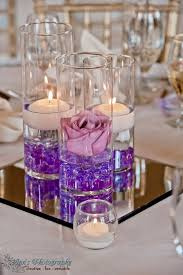 Center Table Decorations 80 Stylish Purple Wedding Color Ideas Floating Candles Wedding