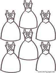 cute dresses 0d6a coloring pages printable