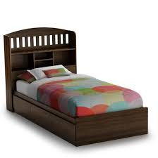 twin bed with bookcase headboard and drawers home design ideas