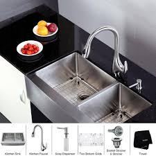Kitchen Sink Set by Stainless Steel Kitchen Sink Combination Kraususa Com