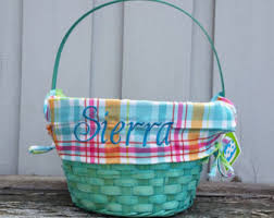 personalized wicker easter baskets lined easter basket etsy