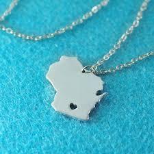 Custom Silver Pendants Wisconsin Pendant I Heart Wisconsin Necklace Custom Wisconsin