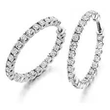 gold hoop earrings uk the raphael collection 18ct white gold brilliant cut diamond