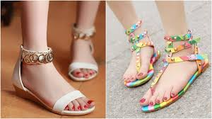 beautiful ladies flat sandals collection stylish shoes for