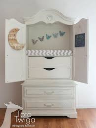 Armoire Changing Table Old Armoire Repurposed Into A Nursery Armoire Armoire Upcycle
