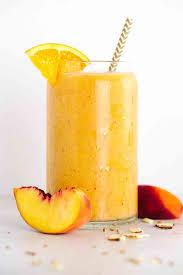 refreshing orange peach ginger smoothie recipe jessica gavin