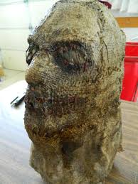 scarecrow halloween mask halloween horror movie prop scarecrow sack killer face mask hand