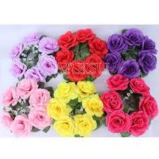 flower candle rings aliexpress buy 10pcs lot 20cm artificial flower wreath