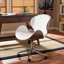 Desk Chair Modern Baxton Studio Bruce Walnut Modern Office Chair Free Shipping