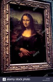 close up of mona lisa a painting by leonardo da vinci stock photo