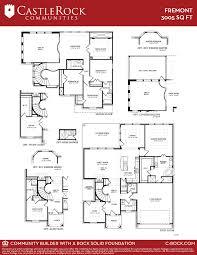 castle home floor plans fremont gold home plan by castlerock communities in mar bella