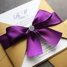 purple wedding invitations purple and gold wedding invitations plumegiant