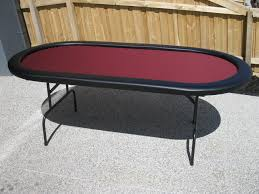 folding oval poker table premium 84 oval burgandy suited speed cloth poker table burgandy