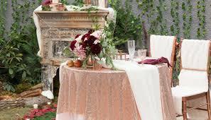 Wedding Table Linens A Burgundy Blush And Fur Wedding