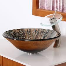 1310 elite modern design tempered glass bathroom vessel sink