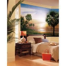 palm trees wallpaper mural xl sunset scene wall murals new palm trees wallpaper mural xl sunset scene wall murals new tropical beach decor ebay