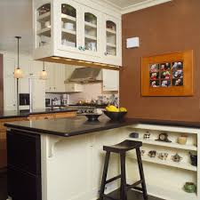 low back counter kitchen transitional with wood counter stools