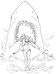 fantastic white shark attack coloring shark coloring