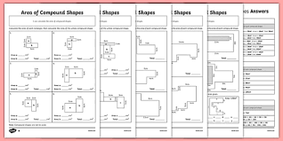 of compound shapes differentiated worksheet pack