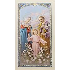 prayer for a family holy family prayer card the catholic company