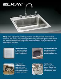 Kitchen Sink Capacity by Elkay Signature Drop In Stainless Steel 25 In 4 Hole Single Basin