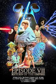 star wars vii return empire disney parody