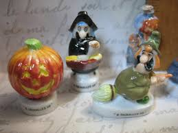 miniature halloween ornaments halloween witch pumpkin monsters 6pcs cupcake toppers picks french