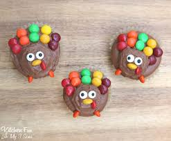 turkey cupcakes for thanksgiving kitchen with my 3 sons