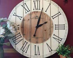 28 inch rustic wall clock large wall clock distressed clock