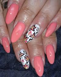 fancy nail designs with coral color 2016 nail art pinterest