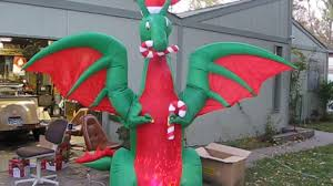 Home Depot Inflatable Christmas Decorations Home Depot 12 Ft Holiday Dragon Youtube