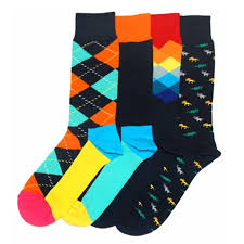 playfully printed socks for cotton