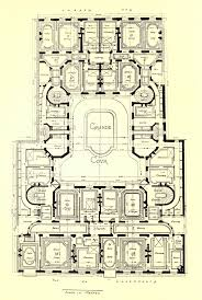 floor plan of an apartment building on rue du luxembourg paris