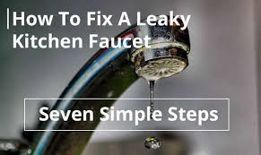 fixing kitchen faucet how to fix a leaky kitchen faucet in seven simple steps