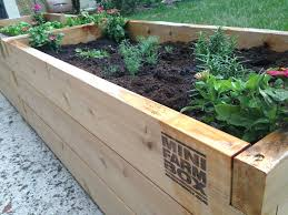 raised bed raised bed frame filled with soil copyright jebournon