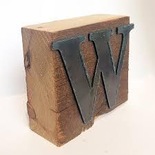 Barn Wood Letters Letter Blocks Reclaimed Wood Home Decor Minnesota