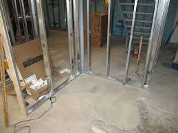 projects of plenty basement build update stud walls and