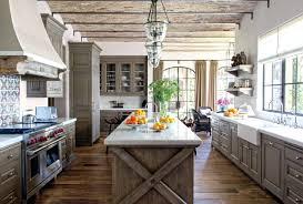 Rustic Oak Kitchen - tiles rustic wood tile flooring cream paint for kitchen cabinets
